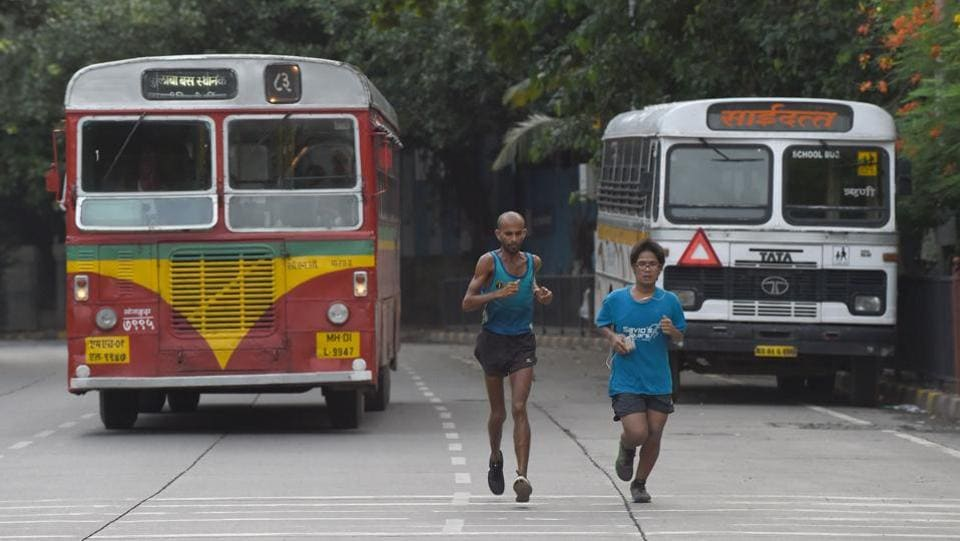 Singh, dubbed 'The Faith Runner' and finding comparisons to Forrest Gump, the marathoner began his run on April 29, 2017 spending three months running, aided by donated clothes, a GPS watch and an emergency phone while living on just ₹200 ($3) a day. (Indranil Mukherjee / AFP)