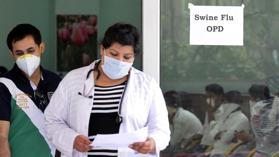 H1N1 virus,swine flu in Gurgaon,hospitals on alert