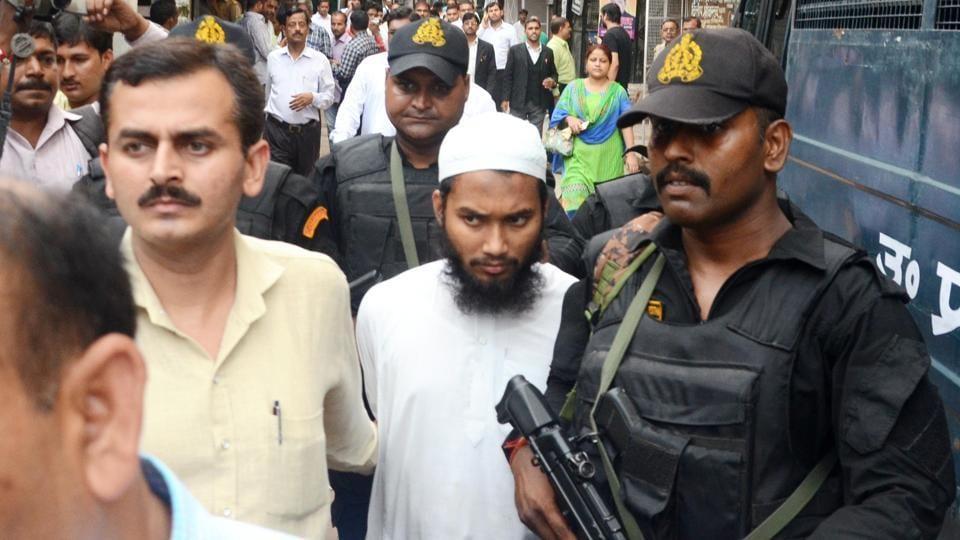 Suspected Bangladeshi terrorist Abdullah Al Mammun (centre) was remanded in five-day police custody.