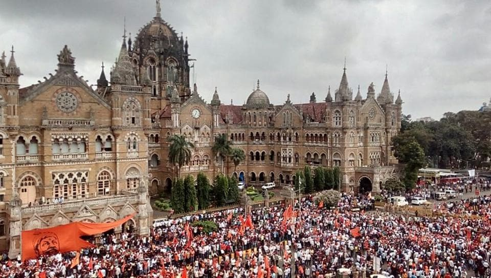The protesters want reservation for the Maratha Community in government jobs and higher education institutes.The community's other main demand is justice for the victim of Kopardi rape.