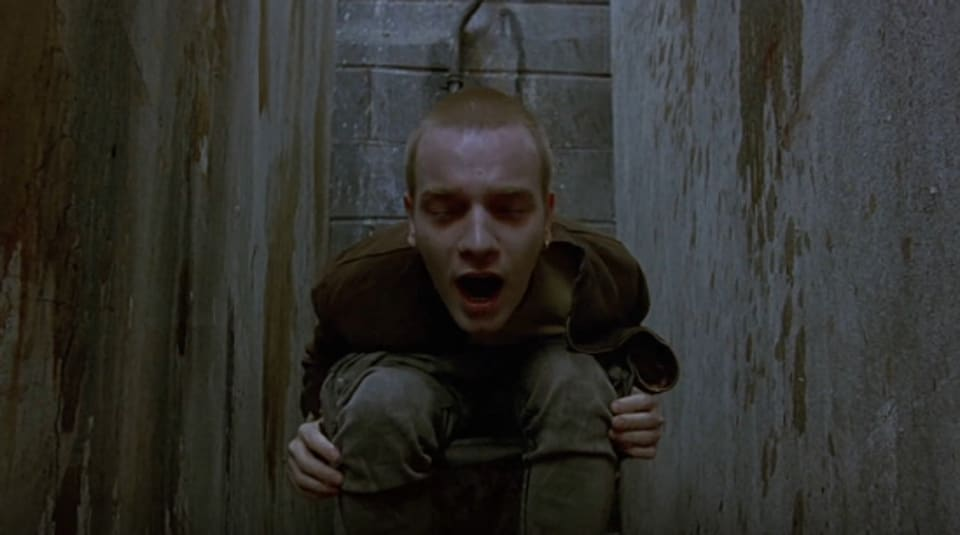 Ewan McGregor in a still from Trainspotting.