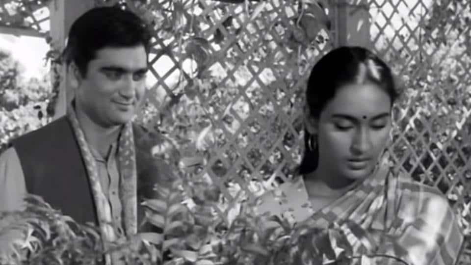 "A still from the film Sujata (1959), which starred Sunil Dutt and Nutan and dealt between a Brahmin man and an ""untouchable"" woman."