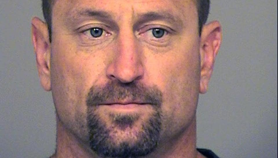 This undated booking photo provided by the Ventura County Sheriff shows Andrew David Jensen, 42, of Ventura, Calif., who was arrested on July 28.