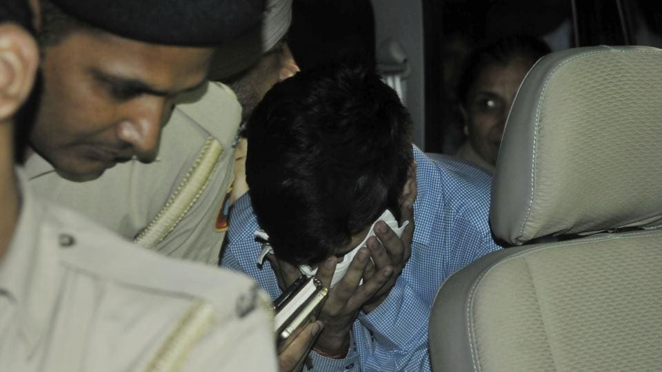 Accused Vikas Barala, son of Haryana BJP chief, being taken for medical examination after he is arrested in stalking case iin Chandigarh on Wednesday, August 09, 2017.