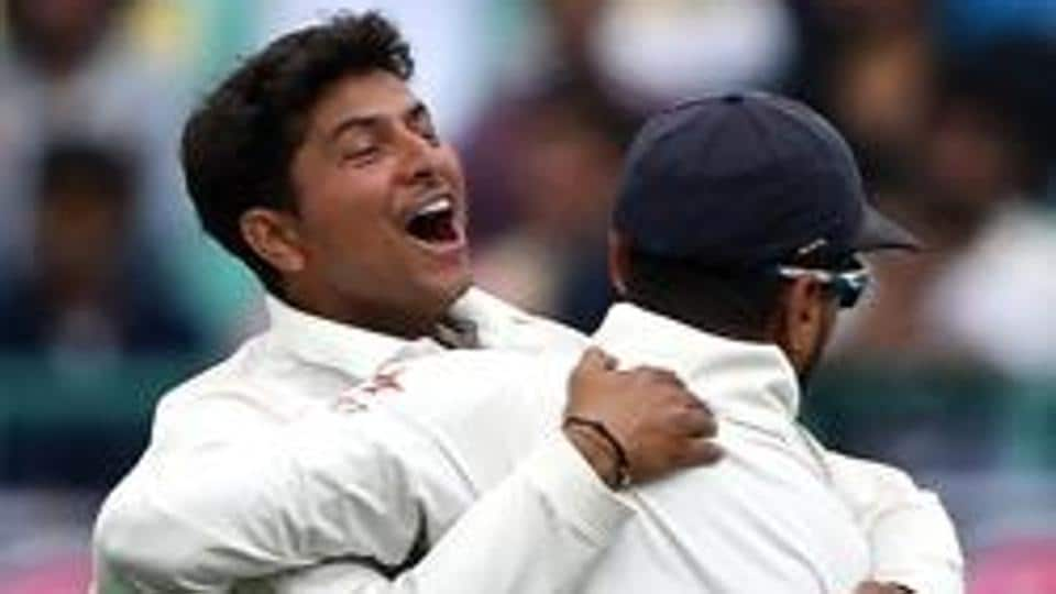 India's Kuldeep Yadav (L) is expected to play in the third Test match against Sri Lanka in Pallekele.