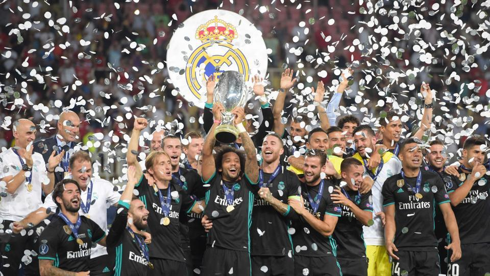 Real Madrid have now won both the UEFA Champions League and the UEFA Super Cup for two years running.  (AFP)