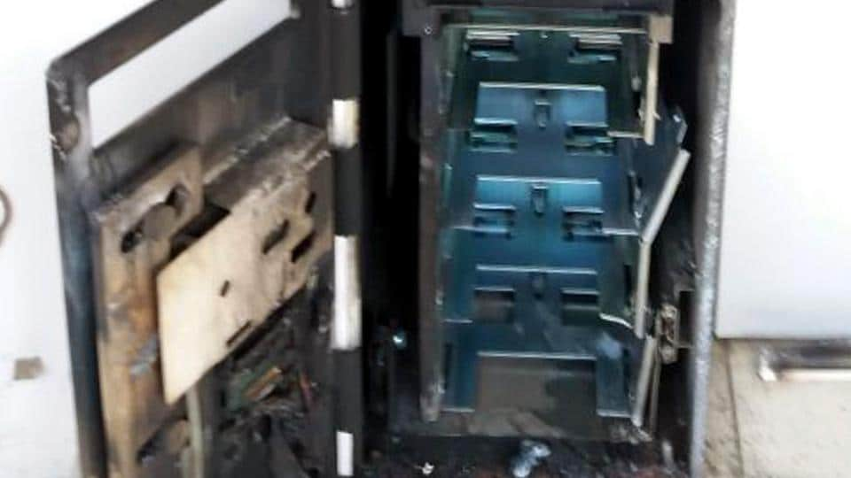 ATM opened,Jalandhar,Rs 2.3 lakh looted