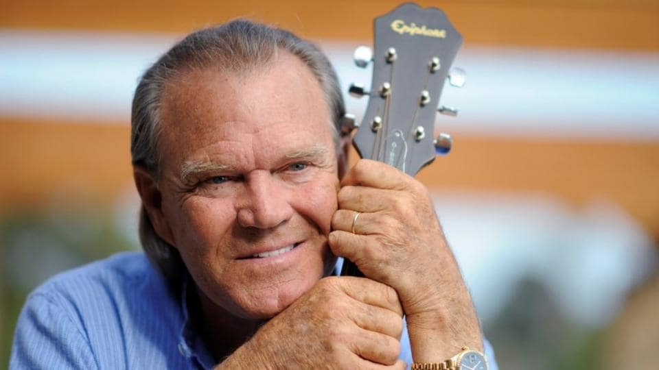 Recording artist Glen Campbell is photographed by APat his home in Malibu, California, U.S., August 4, 2008. He died on Tuesday.