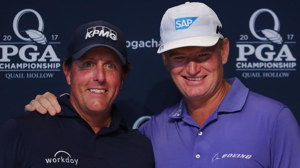 Phil Mickelson,Ernie Els,PGA Championship