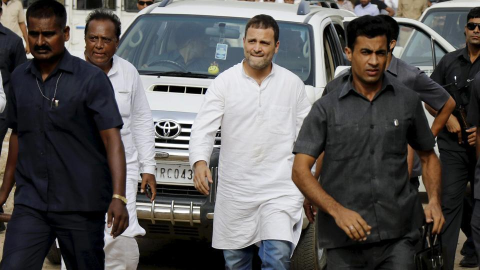 On a tour of flood-affected areas in Banaskantha district on August 4, Congress vice-president Rahul Gandhi escaped unhurt when a stone was thrown at his car at Dhanera. Gandhi had arrived there after visiting flood-affected areas in Rajasthan.