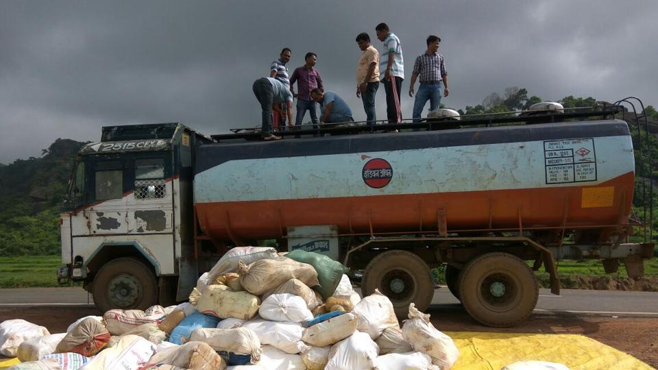 Odisha oilice recovered cannabis from an oil tanker in Malkangiri district.