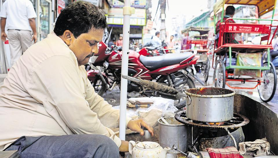 Lalchand's stall in Chawri Bazaar is one of the most atmospheric places for chai.