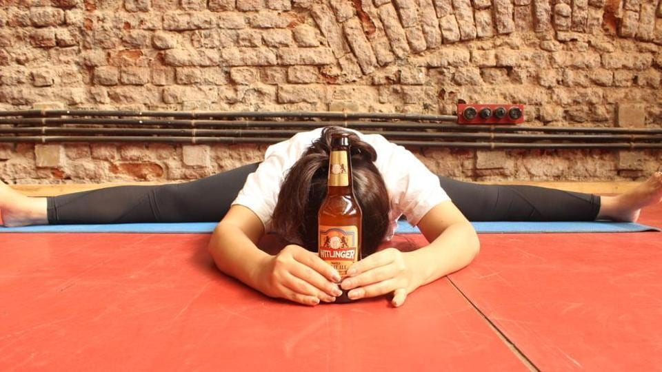 Beer and yoga seem to pair well; beer yoga is a big trend globally and is now gaining popularity in India.