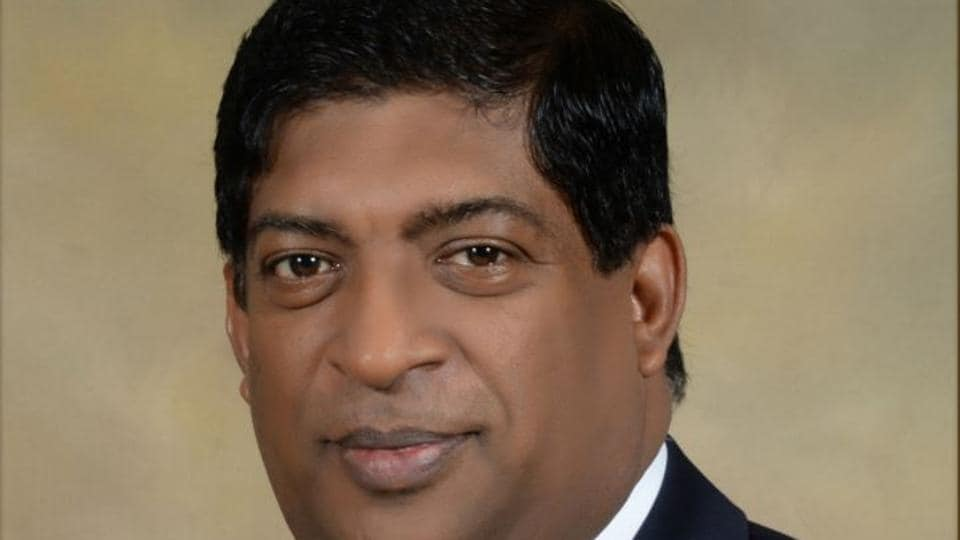 File photo of Sri Lanka's foreign minister Ravi Karunanayake, who resigned on August 10, 2017, after being linked to a controversial financial trader under investigation for insider trading.
