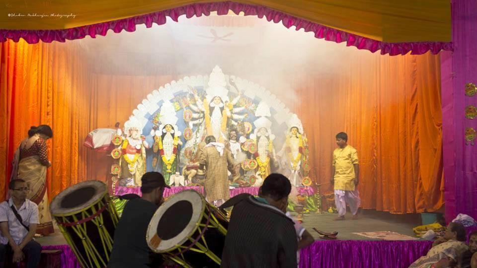 File picture of Durga puja in Raj Rajeswari Hall in Kurseong.