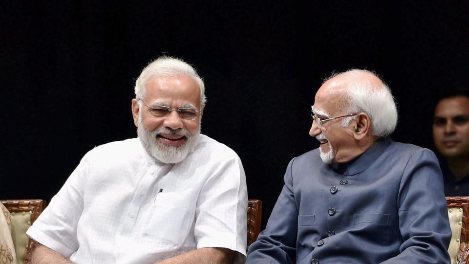 PM Narendra Modi,Hamid Ansari,Muslims