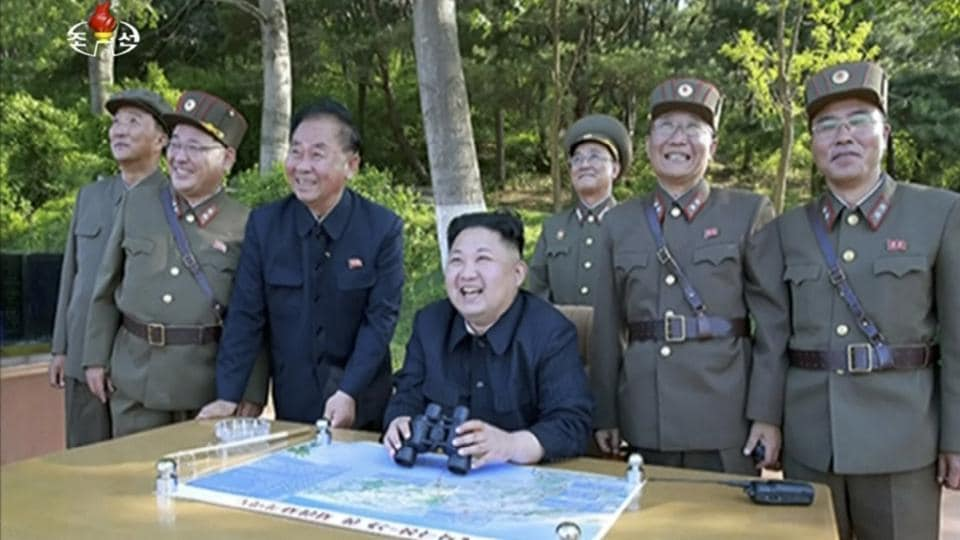 North Korea was quick to deride Trump's rhetoric as a 'load of nonsense', in a statement attributed to General Kim Rak Gyom, the head of the country's strategic forces, declaring 'Sound dialogue is not possible with such a guy bereft of reason and only absolute force can work on him'. The statement added the a strike plan would be ready by mid-August and would await affirmation by the North Korean leader. (KRT / AP File)