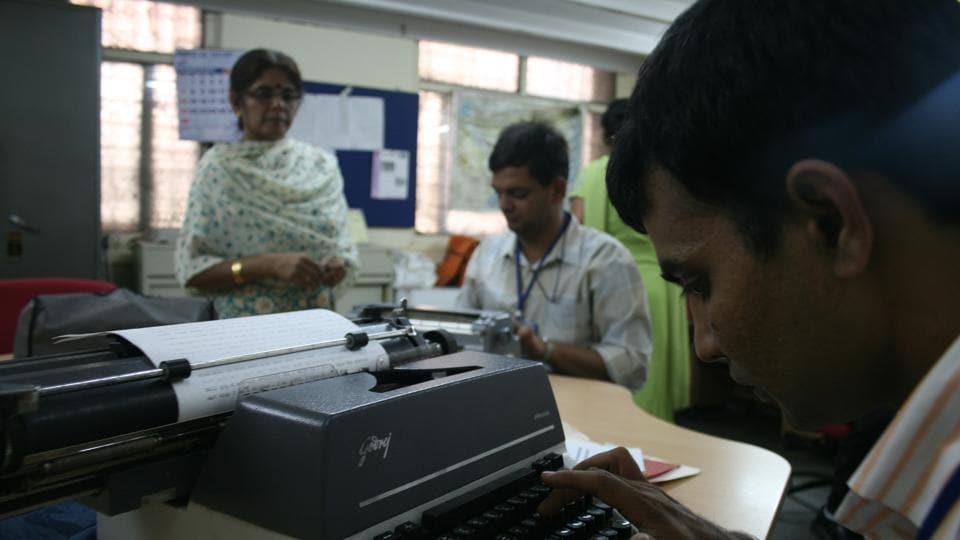 Typewriter,Typewriting exam,Final exam