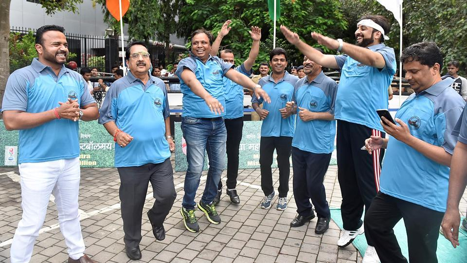 WINNERS ALL THE WAY: The Cool Blue team celebrates. (Anshuman Poyrekar/HT Photo)
