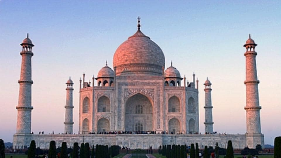 A view of the Taj Mahal in Agra, Uttar Pradesh.