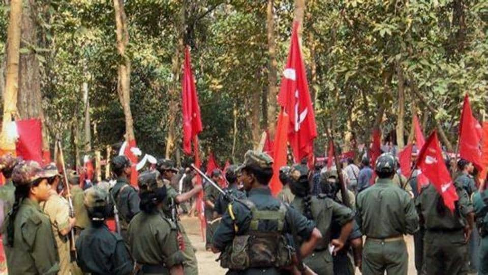 A gathering of Maoists during the CPI (Maoist)'s Ninth Congress at an undisclosed place in Chhattisgarh.