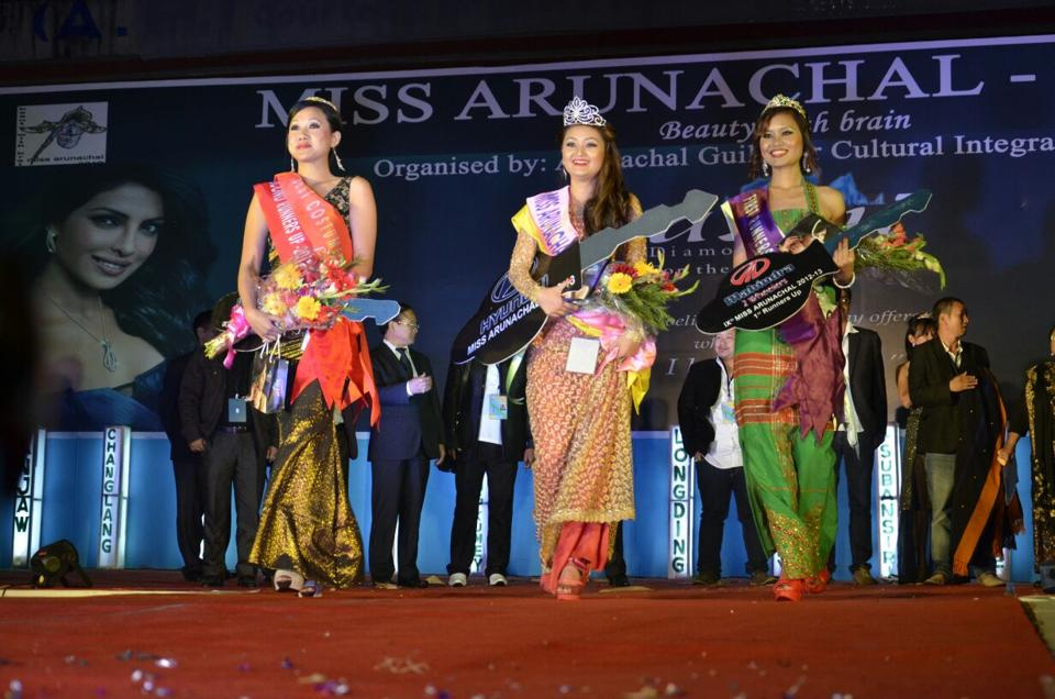A file photo of the Miss Arunachal contest from 2012.