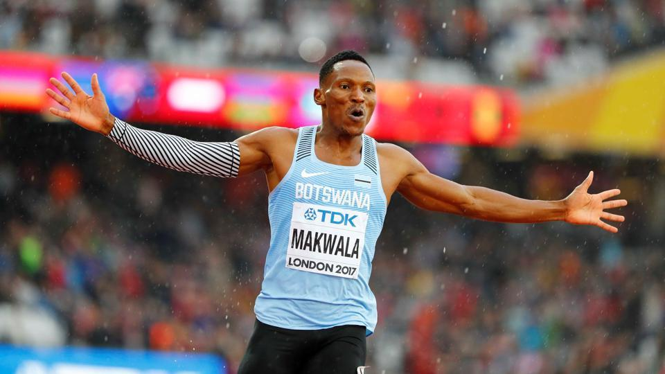 Isaac Makwala seized his chance to shine in the Men's 200m semi-final after being barred from racing in the 400m events.