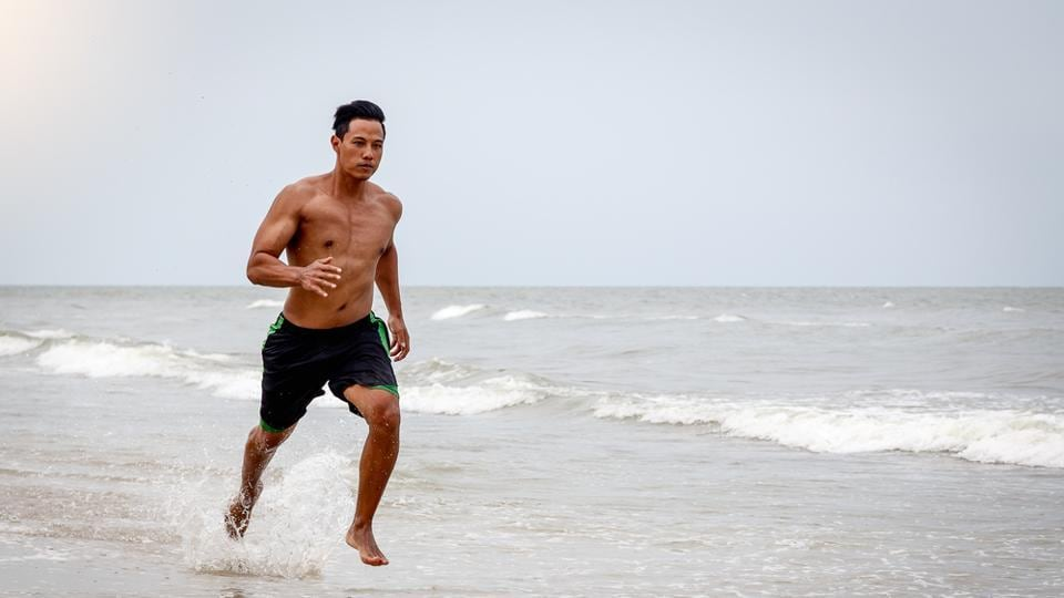 Running by the beach will give you a mental health boost as well as a physical one.