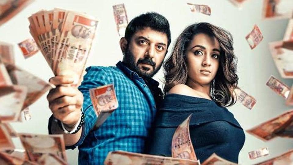 Sathuranka Vettai 2 stars Arvind Swamy and Trisha Krishnan in the lead roles.