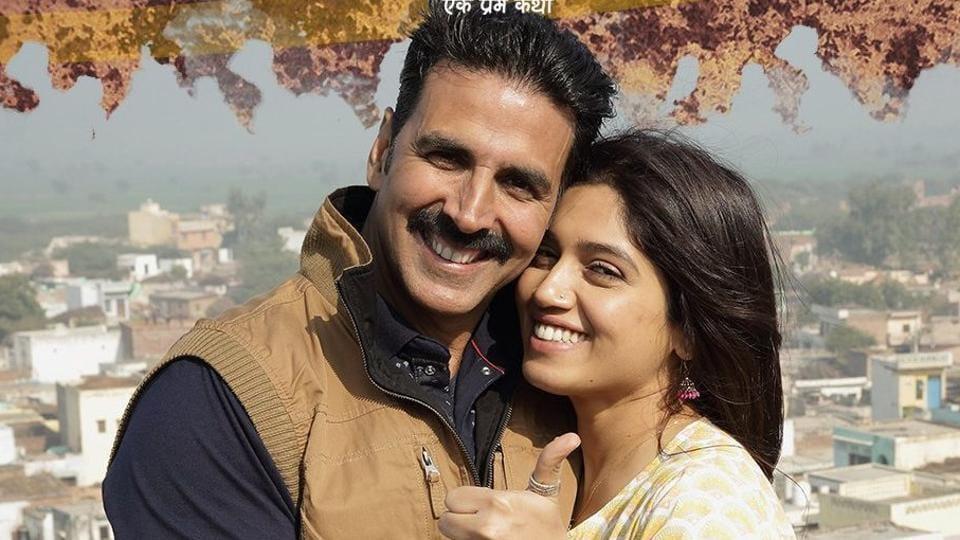 Akshay Kumar and Bhumi Pednekar in Toilet: Ek Prem Katha, which was shot in Hoshangabad, Madhya Pradesh, and Nandgaon, Uttar Pradesh.