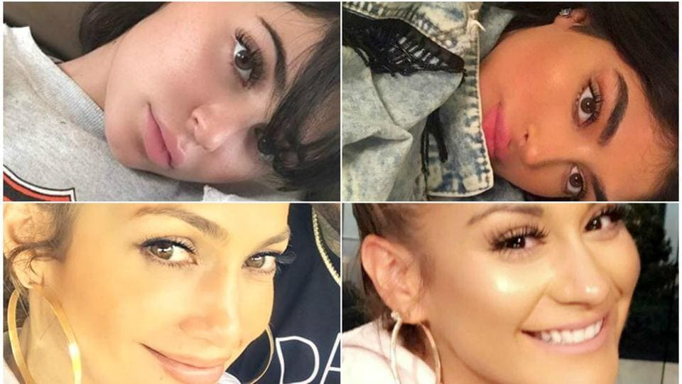 Kylie Jenner and Jennifer Lopez have uncanny resemblance to these women.