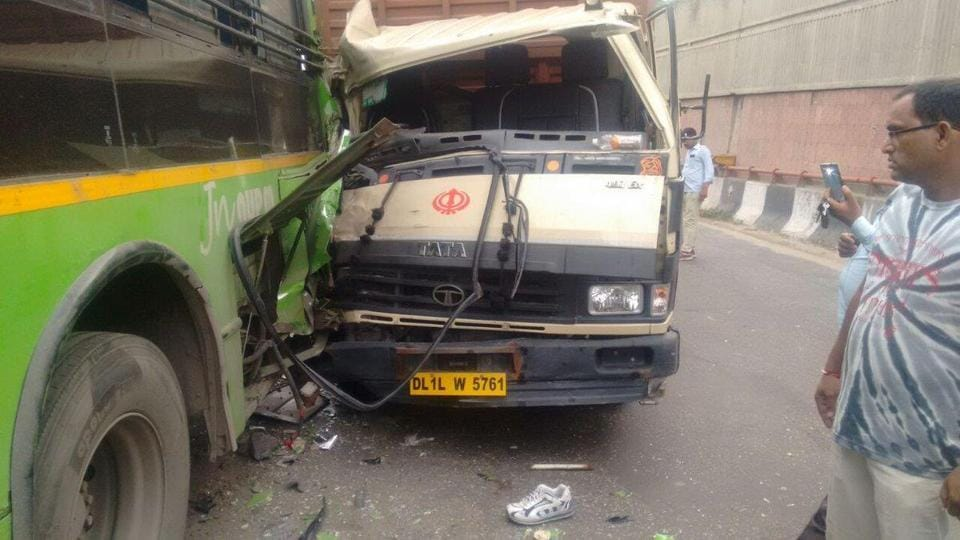 The accident took place at an underpass near the Madhuban Chowk in Rohini at around 12.30am.