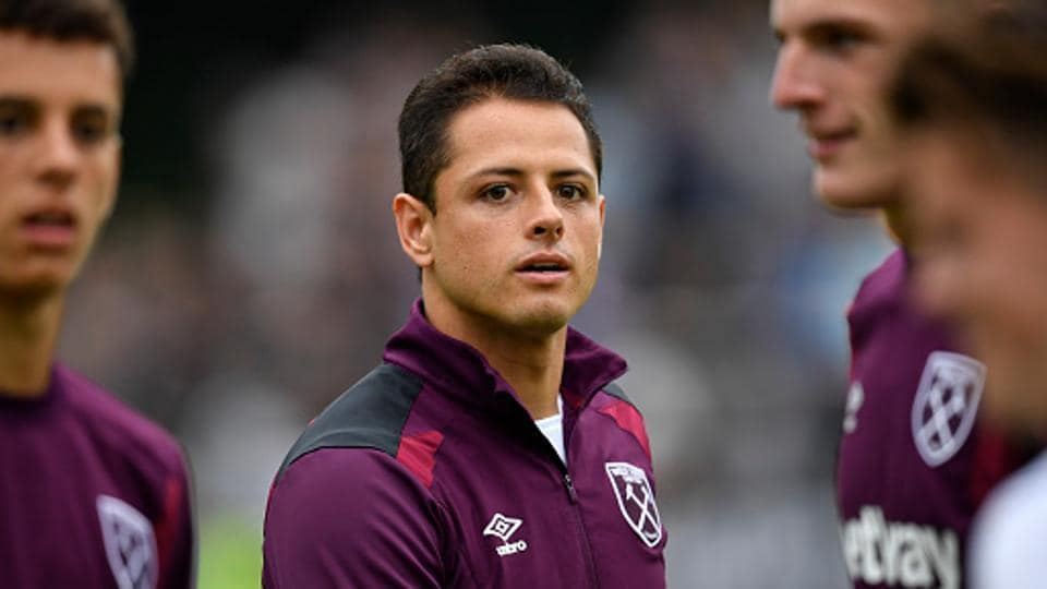 Chicharito is one of the big arrivals at West Ham United this season. The former Manchester United forward's experience could of help to the Hammers this term. (West Ham United via Getty Images)