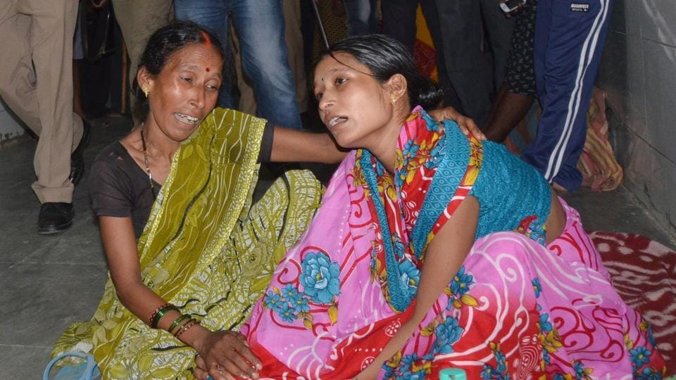 A relative of a child who died at the Baba Raghav Das Medical College in Gorakhpur.