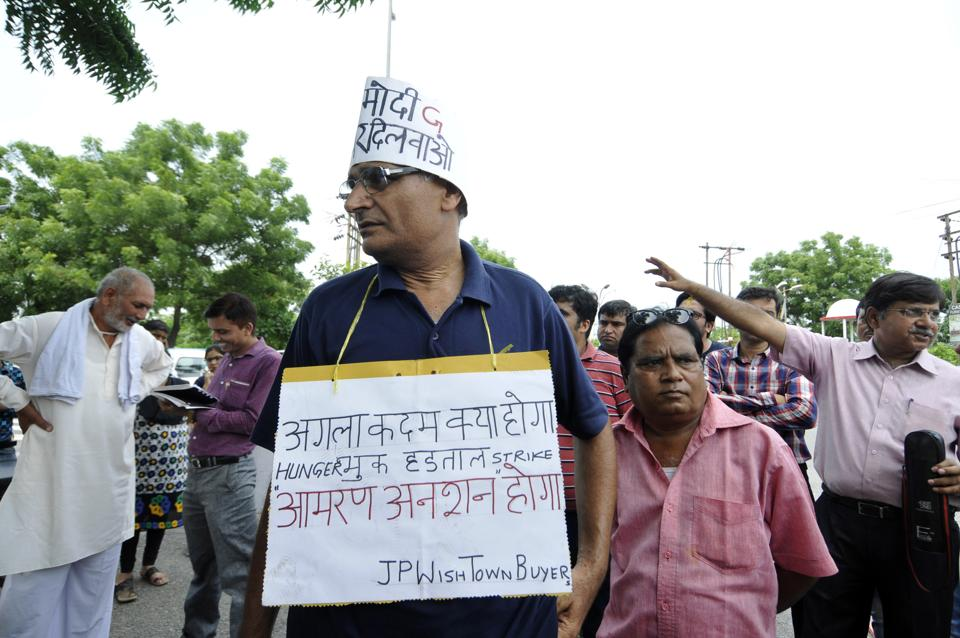 Jaypee Infratech insolvency case: Homebuyers protest outside office