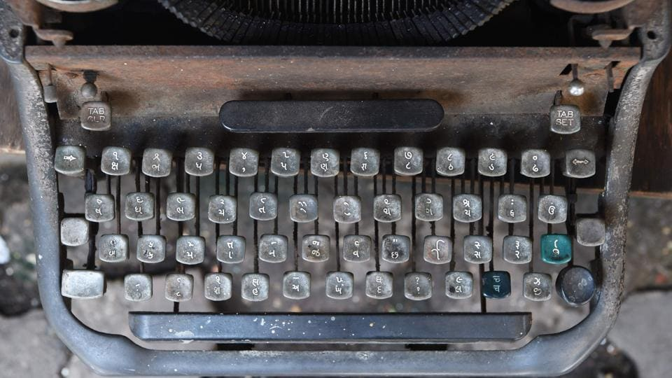 The unmistakable chatter of typewriters outside courthouses and government offices will soon fall silent in India's financial capital Mumbai as stenography colleges on August 11 hold their final manual exams. The roughly 3,500 institutes teaching the antiquated ways of the typewriter across Maharastra state will be phased out as India pushes ahead with a drive to digitize the economy. (Indranil Mukherjee / AFP)