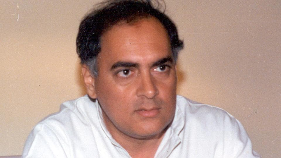 File photo of former PMRajiv Gandhi.