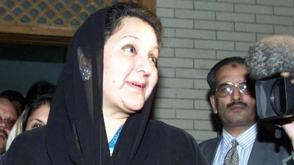 Nawaz Sharif's wife Kulsoom Nawaz.