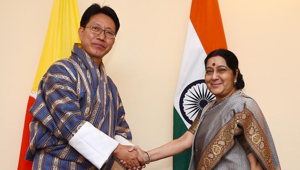 Doklam standoff,Bhutan,Sushma Swaraj