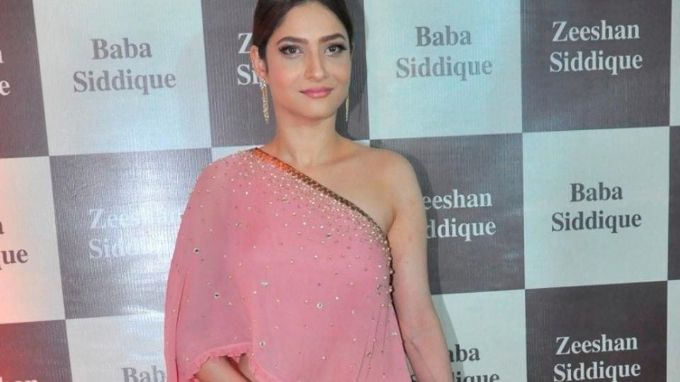 Ankita Lokhande during Congress leader Baba Siddique`s Iftar party, in Mumbai, on June 24.