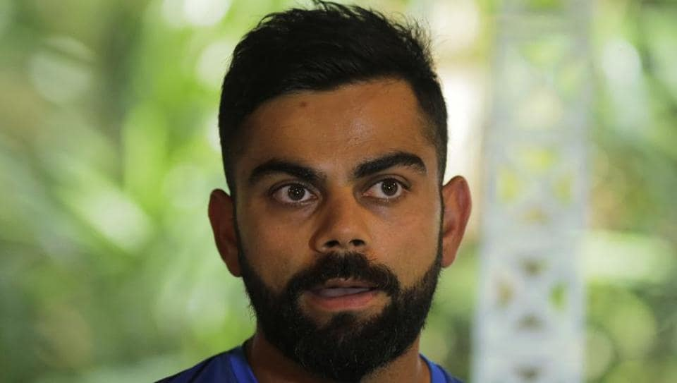 Indian cricket team captain Virat Kohli speaks during a media briefing ahead of their third test cricket match with Sri Lanka in Pallekele. (AP)