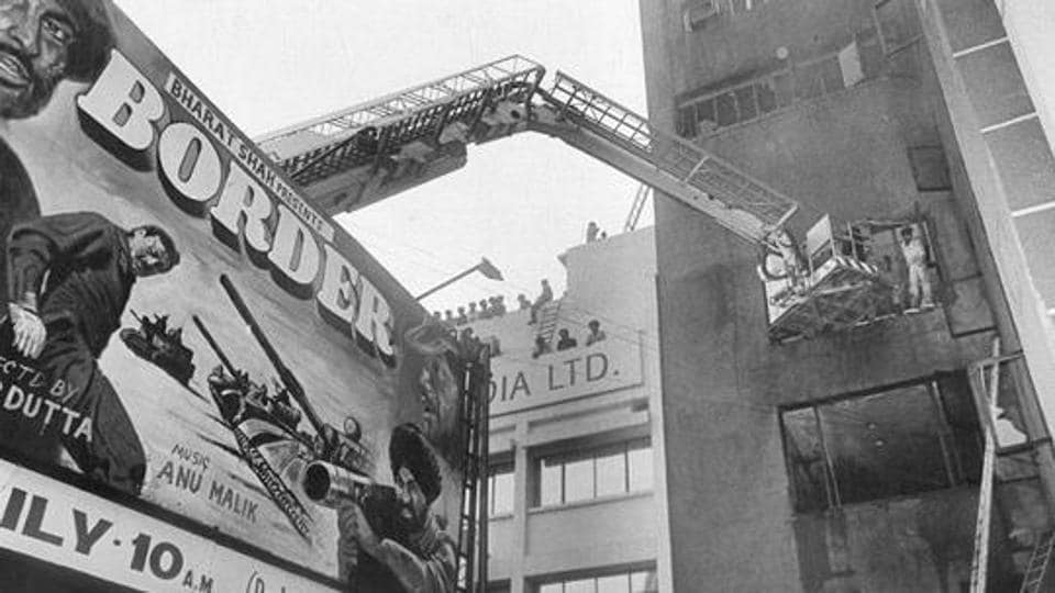 A major fire broke out in south Delhi's Uphaar Cinema on June 13, 1997. Firefighters and locals rescued many trapped inside, but 59 died due to asphyxiation. Over 100 were injured. (PTI file photo)