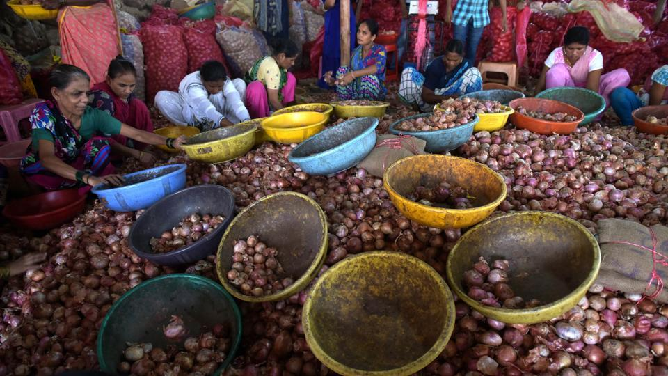 Prices of onion soared up to Rs 50 per kg in cities.