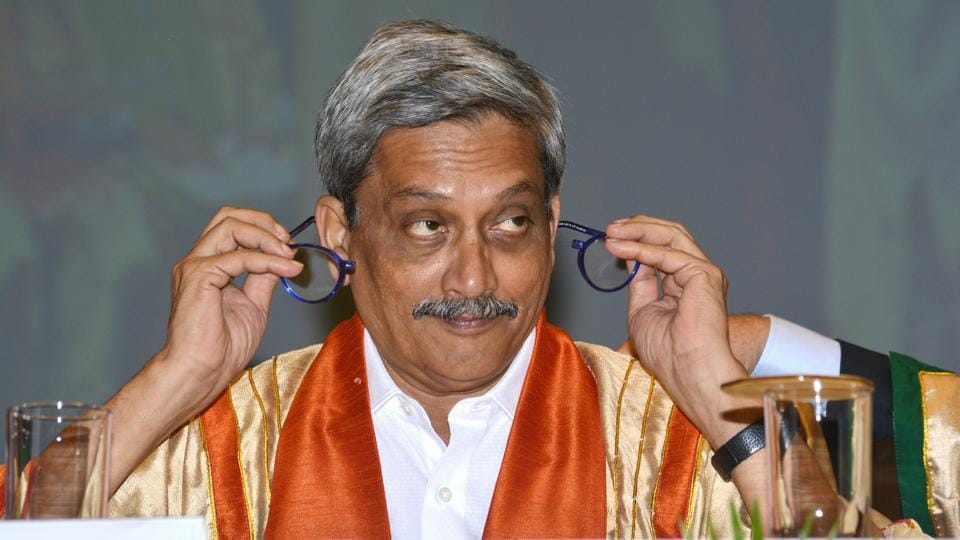 Goa chief minister and former Union defence minister Manohar Parrikar at the 55th convocation of IIT Bombay in Mumbai.