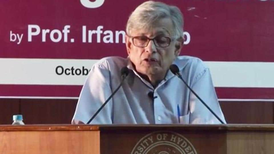"""Irfan Habib said the Indian freedom movement owes much to """"new values and ideals""""."""