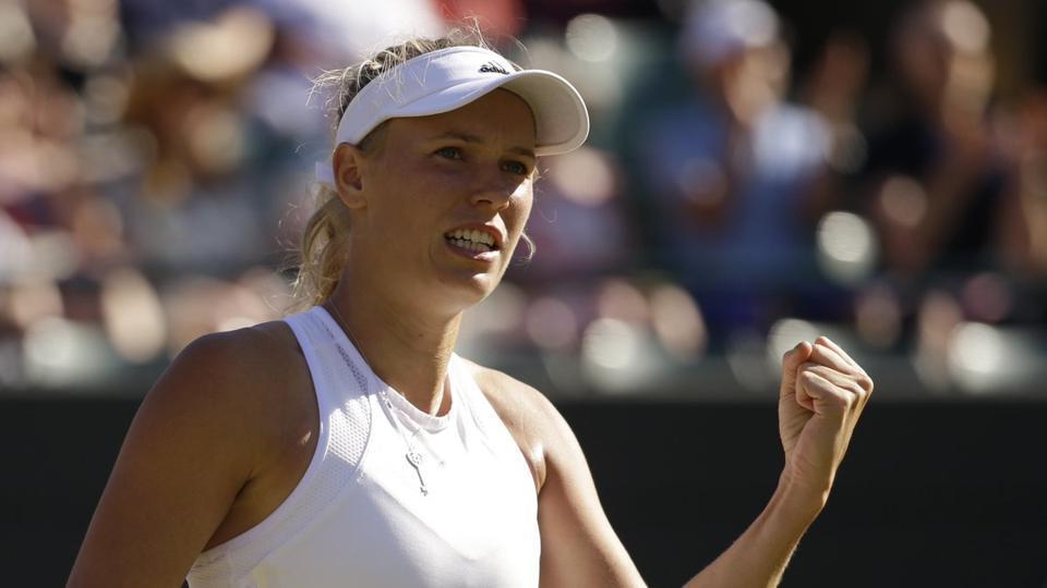 Caroline Wozniacki beat World No. 1 Karolina Pliskova 7-5, 6-7(3), 6-4 in a Rogers Cup quarter-finals match in Toronto.
