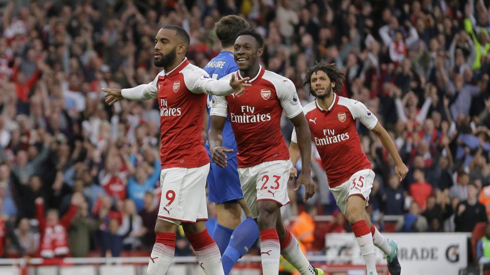 Alexandre Lacazette gave Arsenal the lead early in the game in a dream debut for the French forward. (AP)