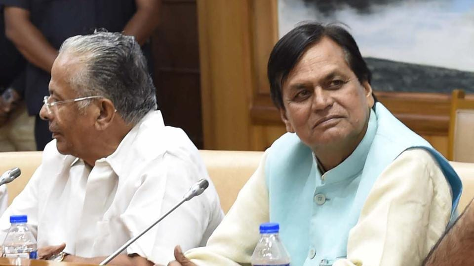 JD(U ) Rajya Sabha member Ali Anwar (right) attends the Opposition meeting in New Delhi.