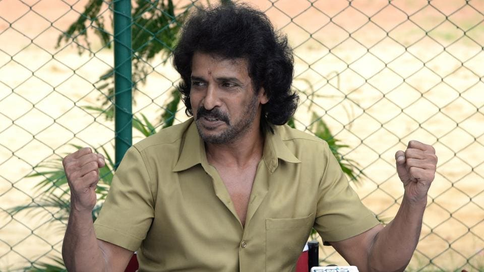 Kannada superstar Upendra Rao during a press conference in Bengaluru.