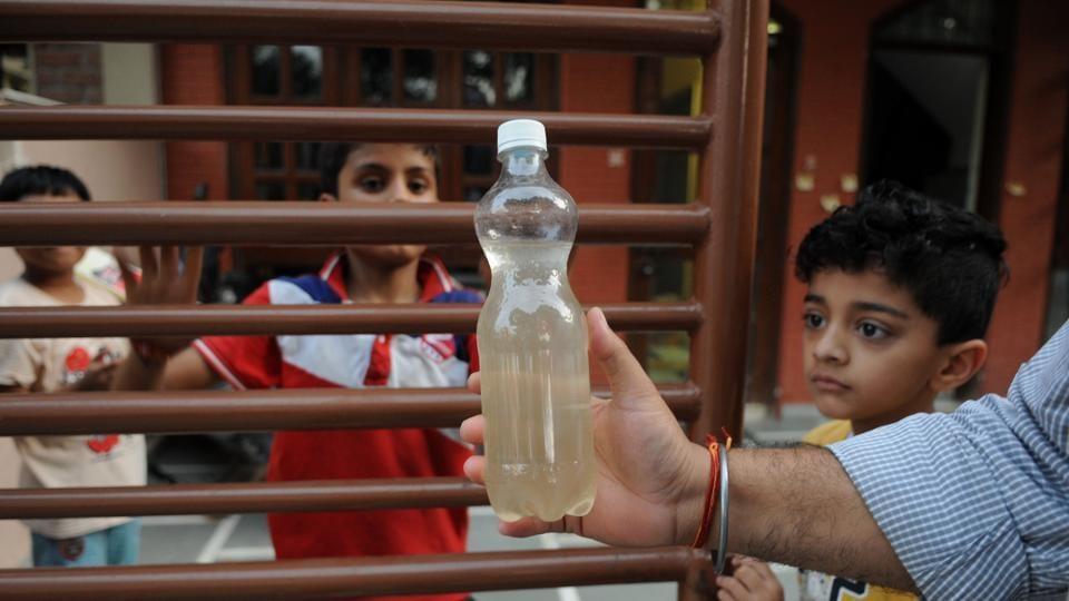 Dirty water flows from taps,Gurugram,Haryana